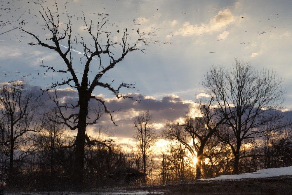Sunset reflections.