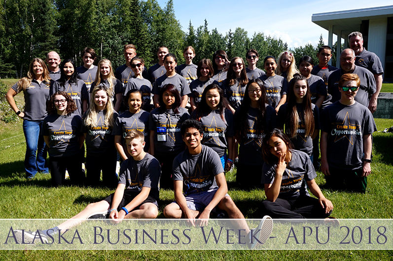 Participants in the Alaska Business Week program gather for a group photo. PC: Alaska Business Week.
