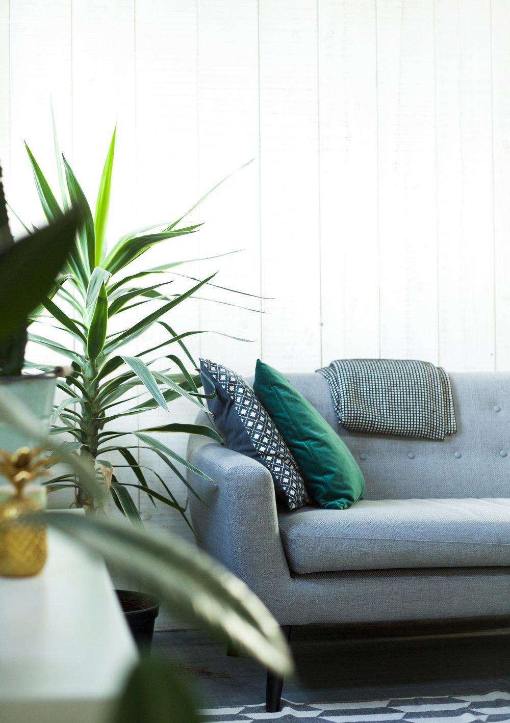 Industrial meets jungle - My idea of a cosy living room.