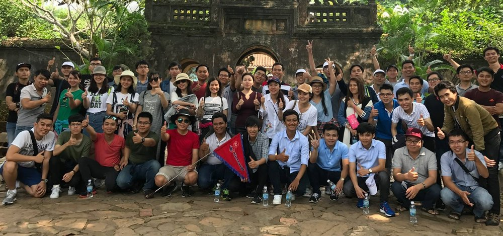 The Vietnam office on a team-building day out