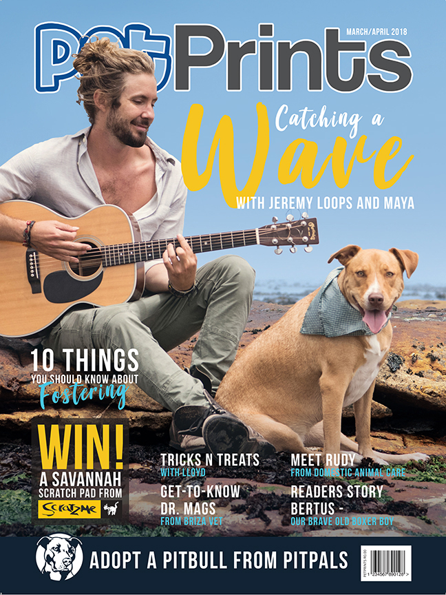 Jeremy Loops on the latest cover of Pet prints Magazine photographed by Emma O'Brien