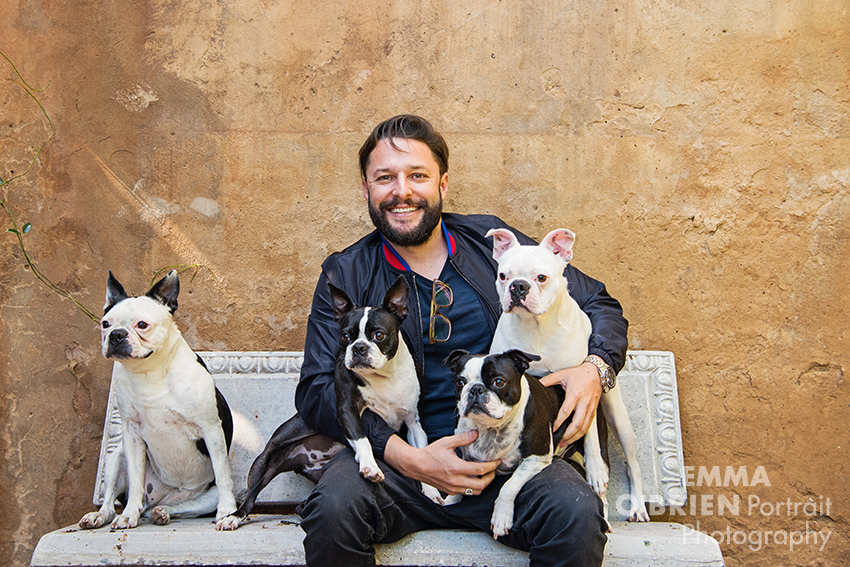 Roger Goode photographed by dog photographer Emma O'Brien