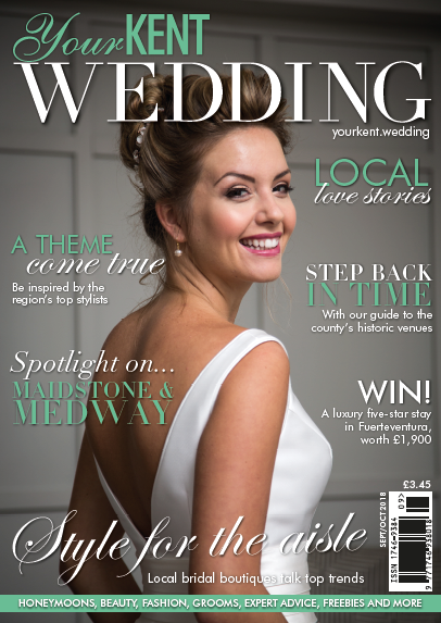 Your Kent Wedding Magazine-Sept/Oct 2018 - A great shoot that I worked on in September 2017 was featured in the September/October 2018 issue of Your Kent Wedding Magazine - and one of the images from the shoot made the cover!