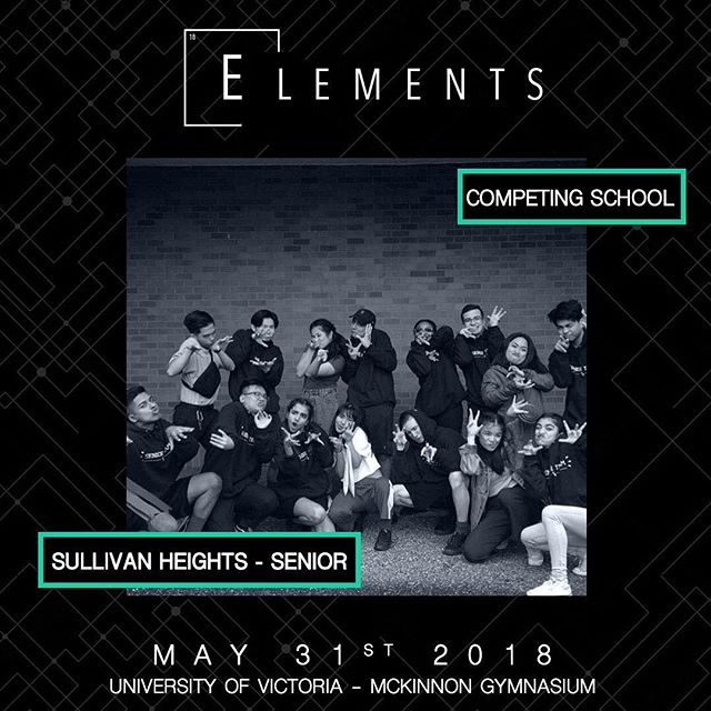 Category: Senior Hip Hop Entry: SULLIVAN HYPES 📍:@universityofvictoria 📧:info@elementscompetition.com Tickets: LINK IN BIO #Elements2018