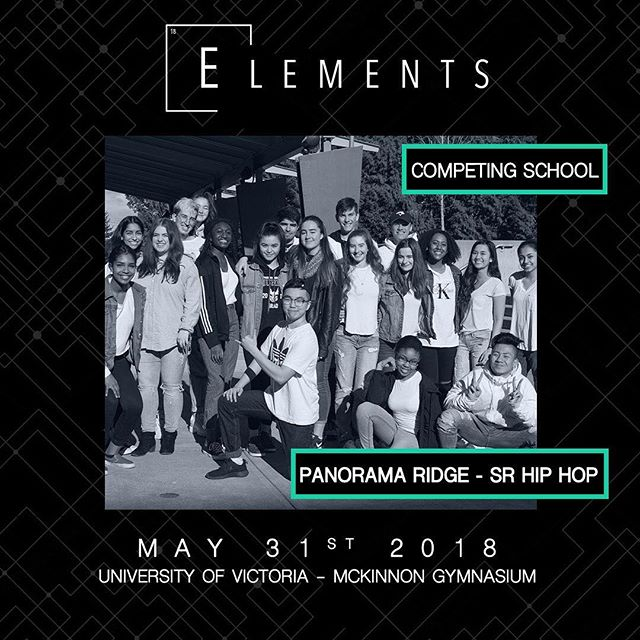 Category: Student Choreo Hip Hop Entry: G18 📍:@universityofvictoria 📧:info@elementscompetition.com Tickets: LINK IN BIO #Elements2018