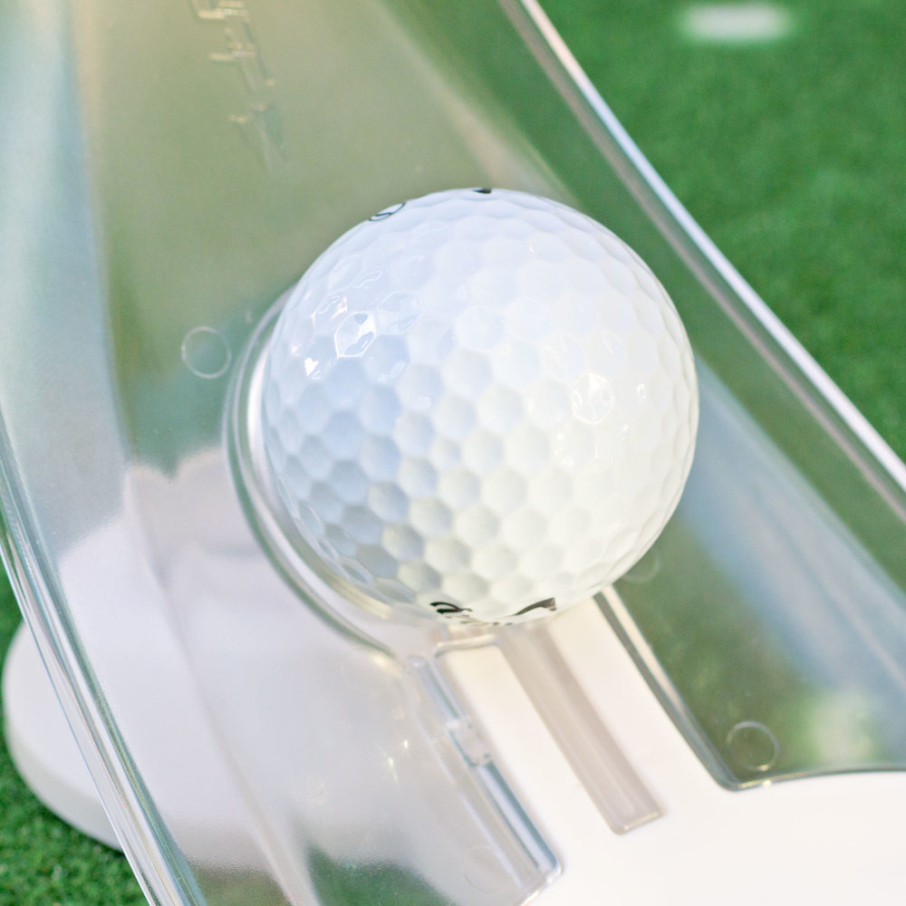 Perfect Putt - Only a ball that is rolled on the perfect line and with the perfect pace (18-inches past the hole had it missed) will stick in the PuttOUT micro-target. Think you can putt to absolute perfection?