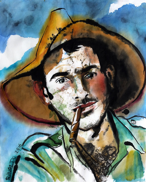 Campesino con cigarro