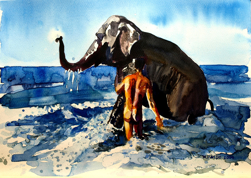 ELEPHANT BATH #1