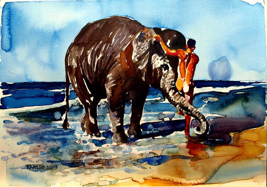 ELEPHANT BATH #2