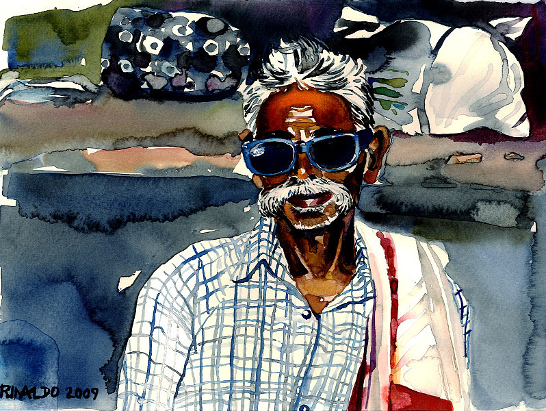 MAN WITH BIG SUNGLASSES