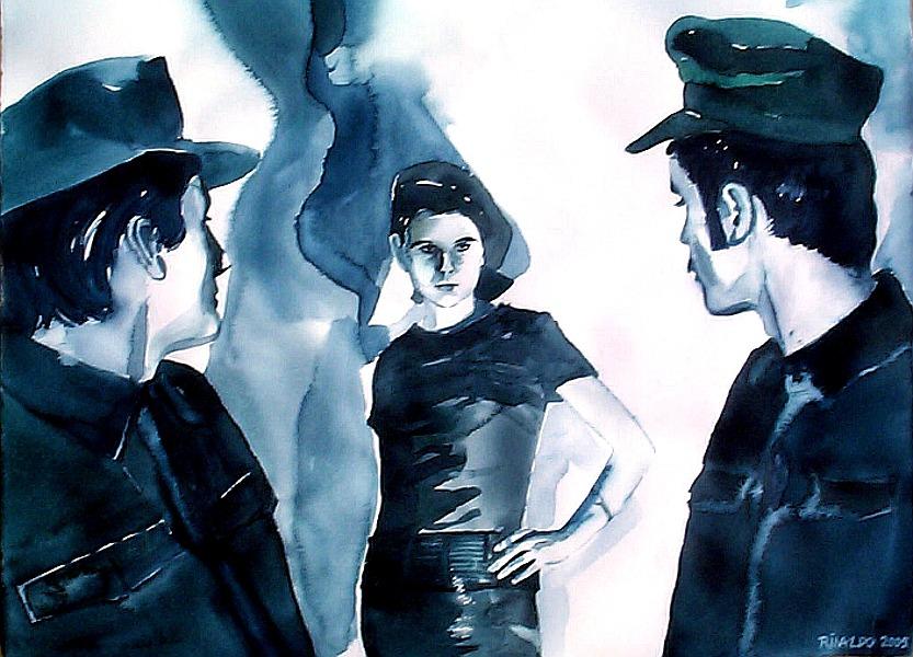 Rinaldo Hopf, Irm Herrmann & Harry Baer in Fassbinder's PIONIERE IN INGOLSTADT, 2005