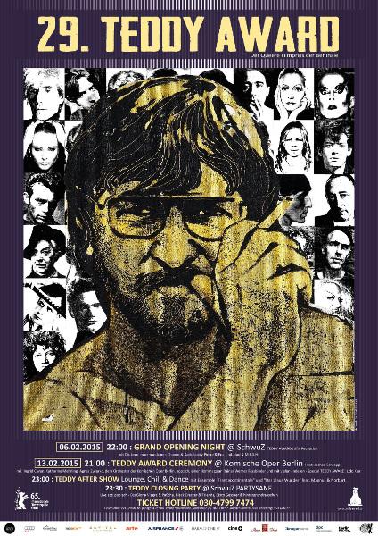 POSTER & PR IMAGE FOR TEDDY AWARD / BERLINALE FILM FESTIVAL, BERLIN 2015