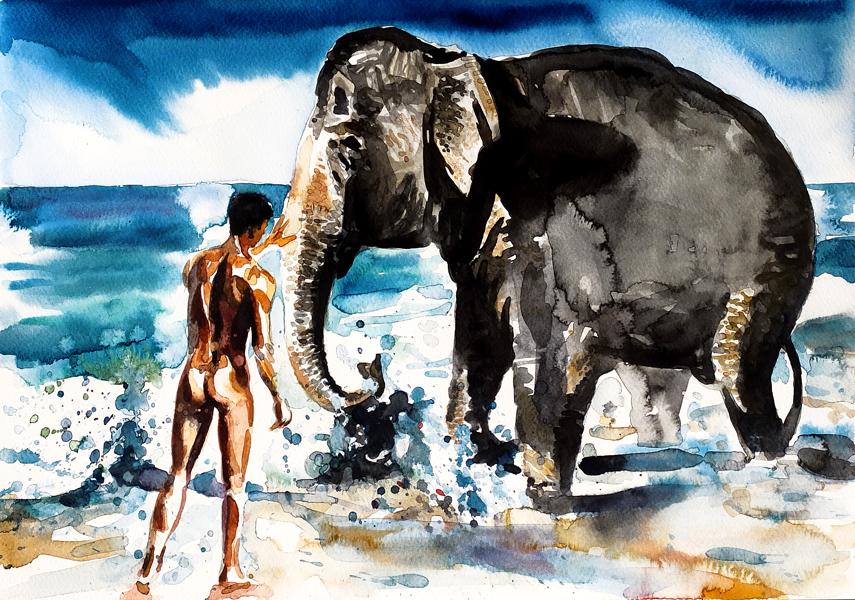 ELEPHANT BATH #4