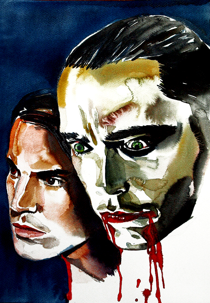 JOE DALLESANDRO & UDO KIER IN DRACULA