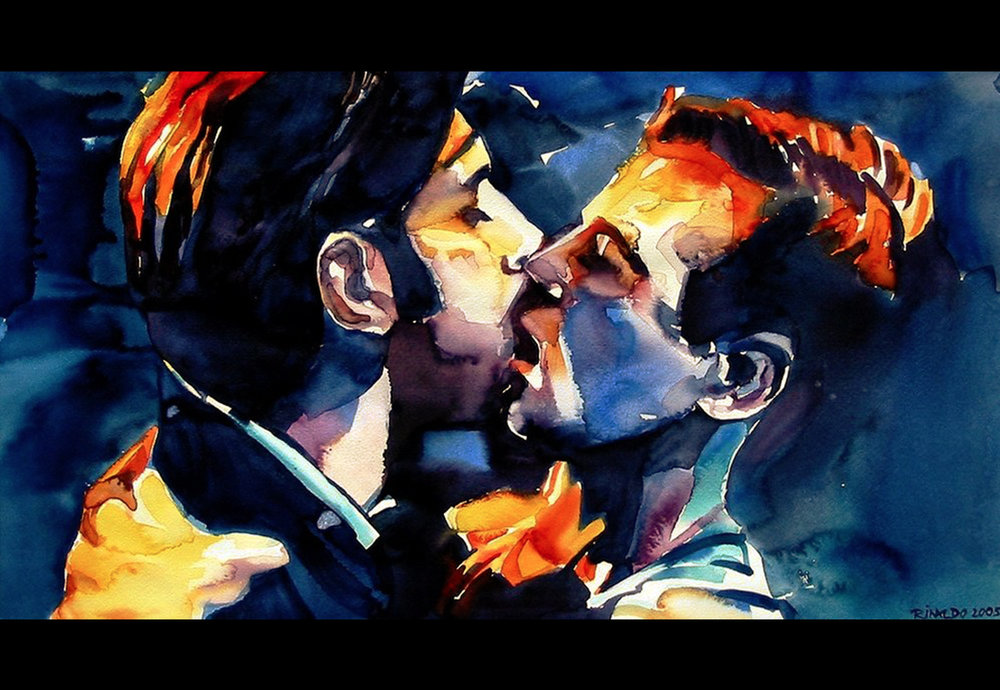 THE BROTHERS KISSING IN QUERELLE