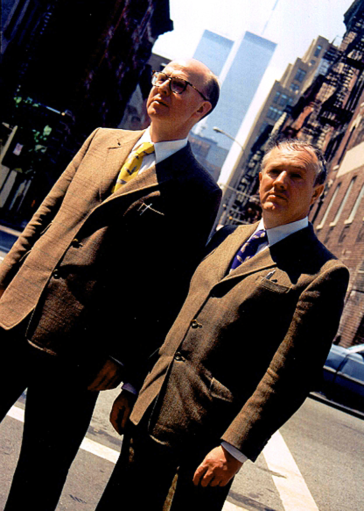 DOUBLE TWINS - GILBERT & GEORGE, ARTISTS, NEW YORK 1999