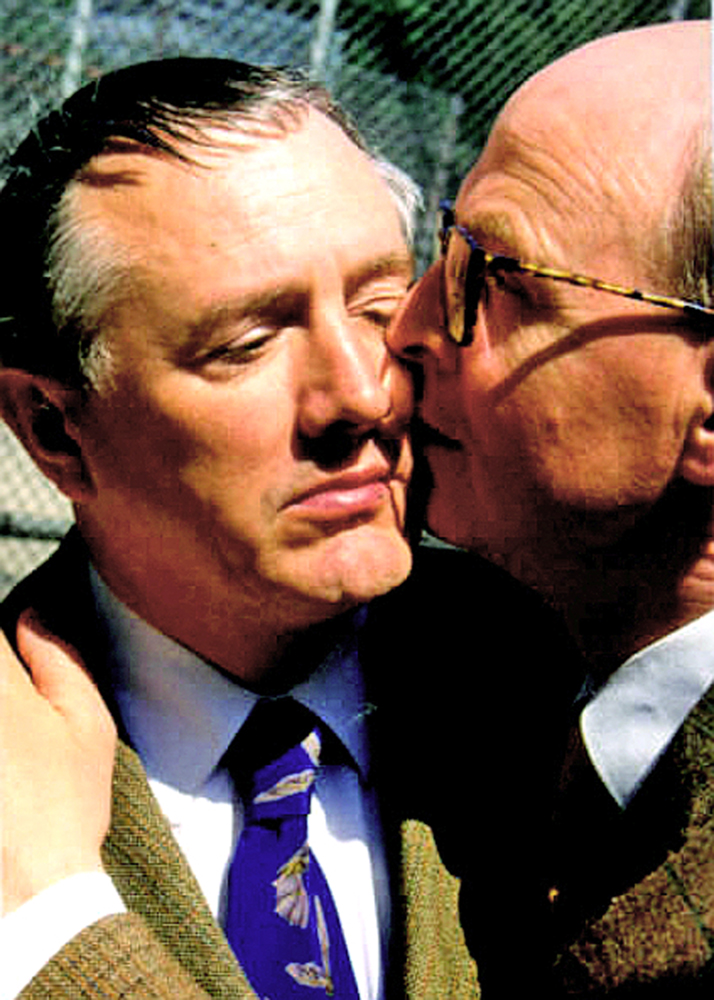 GILBERT & GEORGE, ARTISTS, NEW YORK 1999