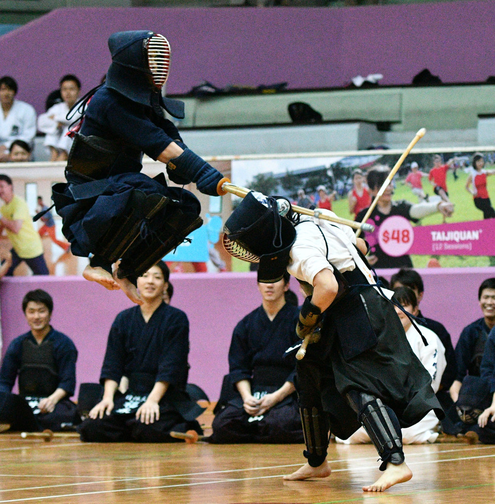 The current style of Kendo has gone thru about 250years of evolution. The bamboo swords also known as Shinai, with the protective equipment, Bogu, are the current gears of today's Kendo practitioners.