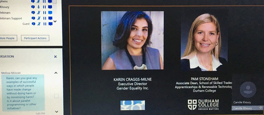 EXPERT SPEAKER ON WEBINAR HOSTED BY COLLEGES & INSTITUTES OF CANADA - GENDER EQUALITY IN APPLIED EDUCATION & SKILLS TRAININGTORONTO, CANADA (2017) -