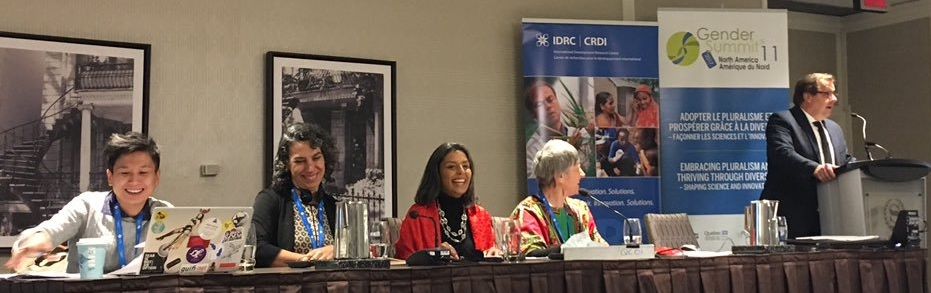 SPOKE ON THE ROLE OF STEM TO ACHIEVE SDG 5 IN AFRICA DURING GENDER SUMMIT NORTH AMERICA. PANELIST - HOSTED BY INTERNATIONAL DEVELOPMENT RESEARCH CENTRE (IDRC).  Montreal, CANADA (2017) -