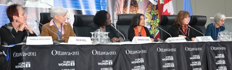 RAPPORTEUR AT CIDA-UN WOMEN ECONOMIC EMPOWERMENT CONFERENCEOTTAWA, CANADA (2011) -
