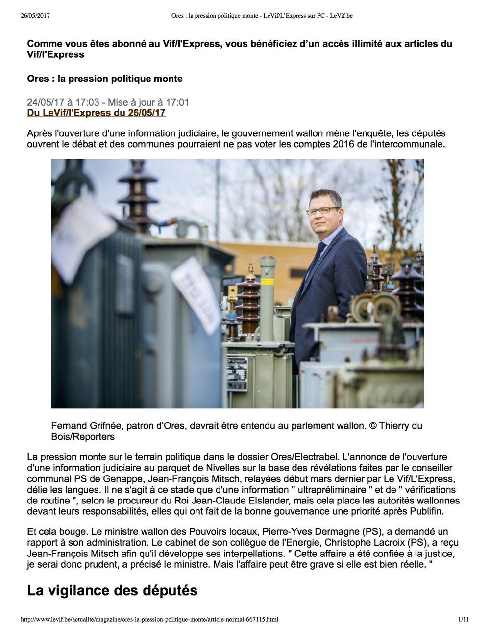 Ores - la pression politique monte - LeVif-L'Express sur PC - LeVif.be.jpg