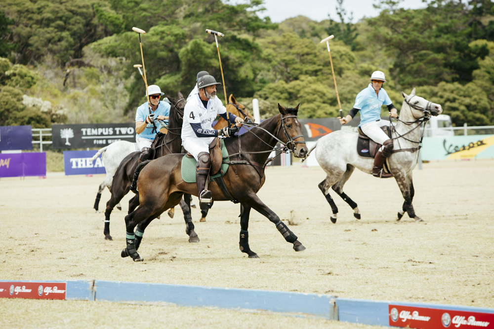 A game of polo at the Alfa Romeo Portsea Polo