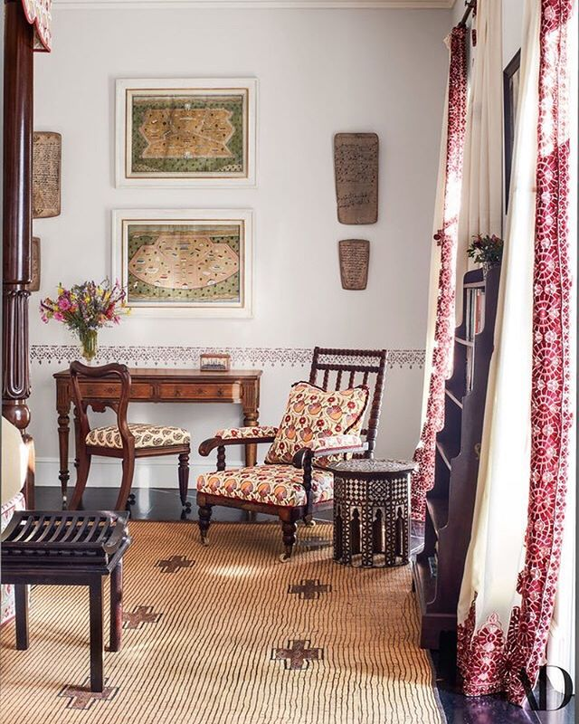what: guest bedroom of veere grenney's home  where: tangier, as seen in @archdigest why: because quiet morning light streaming through your window...