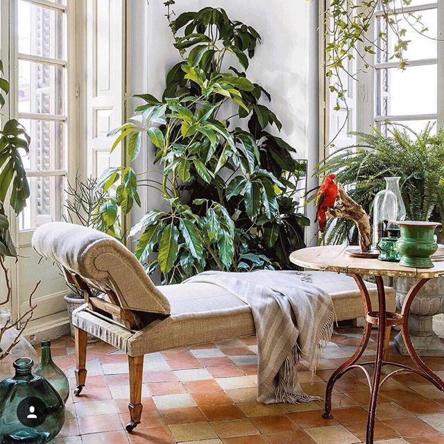 what: sun room of home  where: madrid, as seen in @ad_spain why: because saturday morning relaxation zone 🌿
