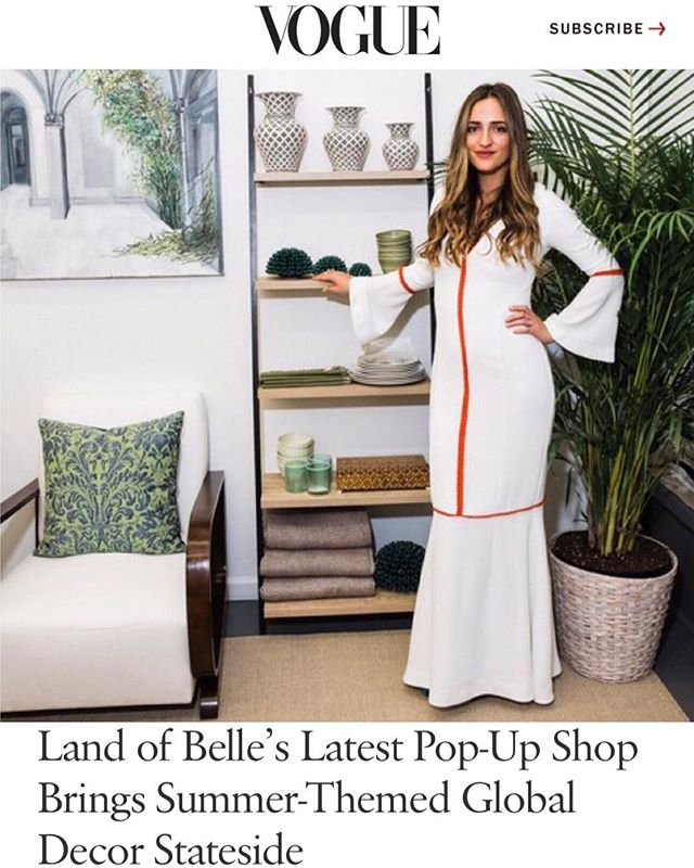 what: ♡ a story on our pop-up ♡ where: up now on @voguemagazine (link in bio) why: because we are so completely blown away by this beautiful story, and so honored to be featured. thank you @noorbrara @ellara @voguemagazine ✨ and thank you to everyone for making the opening of our pop-up a moment we will forever remember, your support means so much ♡ #landofbelle 📷: @allaireb
