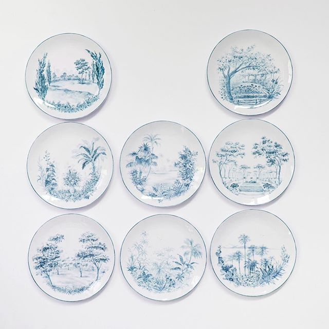 what: garden plates by laboratorio paravicini  where: available at our pop-up, 171 elizabeth st.  why: because they're the absolute dreamiest... and we only have two sets left! 🍃 dm us for details
