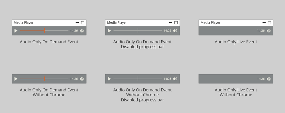 ON24 Platform 10 Media Player Widget On Demand & Live Audio Only Events