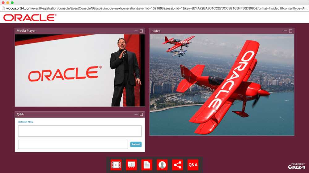 ON24 Platform 10 Oracle's On Demand Webinar