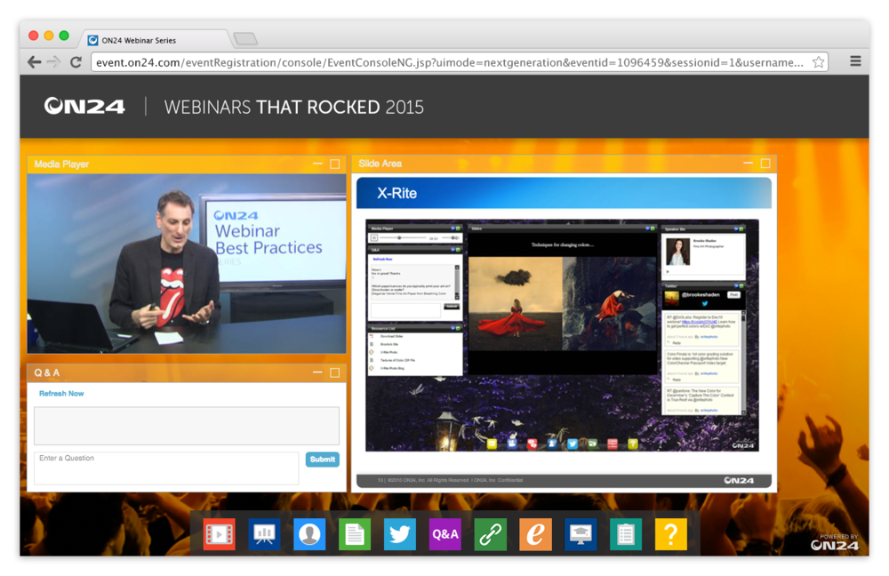 "ON24 Platform 10 ON24's On Demand Webinar ""Webinar That Rocked 2015"""
