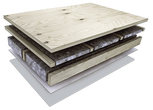 ".... FLOOR PANEL .. GRĪDAS PANELIS ....   .... Deep-impregnated bottom header-joist with sealing and waterproofing layers (Tyvek)  Wind barrier: wind gypsum boards trimmed with wind tapes (SIGA, ProClima or Tyvek)  Wooden frame: 145mm, 195mm or 220 mm thick material with respective thermal insulation  Cross-lathing: 45mm wooden structure with 50mm extra insulation  Vibration damping (absorbing) spacer tape  The top layer: 22mm thick OSB or Durelis Floor TG4 particle board with a four-way spill  ..                          Normal     0                     false     false     false         EN-US     X-NONE     HE                                                                                                                                                                                                                                                                                                                                                                                                                                                                                                                                                                                                                                                                                                                                                                                                                                                                                                                                                                                                                                                                                                                                                                                                                                                                                                                                                                                                                                                                                                                                                                                                                                                                                                                         /* Style Definitions */ table.MsoNormalTable 	{mso-style-name:""Table Normal""; 	mso-tstyle-rowband-size:0; 	mso-tstyle-colband-size:0; 	mso-style-noshow:yes; 	mso-style-priority:99; 	mso-style-parent:""""; 	mso-padding-alt:0cm 5.4pt 0cm 5.4pt; 	mso-para-margin-top:0cm; 	mso-para-margin-right:0cm; 	mso-para-margin-bottom:8.0pt; 	mso-para-margin-left:0cm; 	line-height:107%; 	mso-pagination:widow-orphan; 	font-size:11.0pt; 	font-family:Calibri; 	mso-ascii-font-family:Calibri; 	mso-ascii-theme-font:minor-latin; 	mso-hansi-font-family:Calibri; 	mso-hansi-theme-font:minor-latin; 	mso-ansi-language:EN-US; 	mso-fareast-language:EN-US;}     Dziļimprignēta apakšējā vainagsija ar noblīvējuma un hidroizolācijas kārtām (Tyvek)  Vēja barjera: vēja ģipša plāksnes nošūtas ar vēja lentām (SIGA, ProClima vai Tyvek)  Koka rāmis: 145mm, 195mm vai 220mm biezs materiāls ar attiecīgu siltumizolāciju  Šķērslatojums: 45mm koka konstrukcija ar 50mm papildus siltinājumu  Amortizējoša starpliku lenta  Virskārta: 22mm bieza OSB vai Durelis Floor TG4 kokskaidu plāksne ar četrpusīgu spundi  ...."