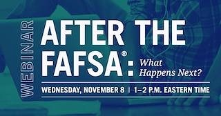 Finished with your FAFSA already & want to know your next steps? The Office Of Federal Student Aid will be hosting a webinar on that topic tomorrow at 1PM EST/12PM CST. Register NOW at https://studentaid.ed.gov/sa/events/after-fafsa-what-next-20171108 . #TuesdayTip