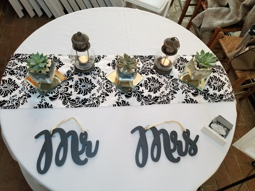 Succulents are a great replacement for flowers and give an elegant look to any table.