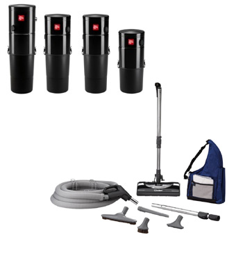 - Central Vacuums add value to your home and eliminates the need for heavy, noisy canister style designs. A lightweight hose and a compact power head are all that is needed to keep your home move-in new. It is so convenient many clients will keep a hose/power head on each floor to eliminate having to carry anything up or down stairs. Since central vacuum systems do not exhaust back into the room being vacuumed, there is less dust agitated during the vacuuming process. We locate the main section of the vacuum in a garage or closet for easy access while keeping the noise away from living areas. (Contact one of our system designers today to schedule an appointment to discuss your needs.)