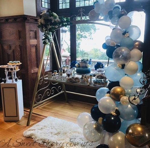 Modern meets vintage for this christening! Thanks for tagging us @asweetstoryevents !