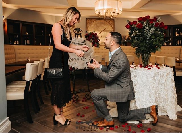 We're not crying... you are! Congratulations to the future Mr. and Mrs. on your new engagement. Thanks for choosing @belvedereclubsi for this special moment in your life. Photo credit: @mikegloriaphoto_