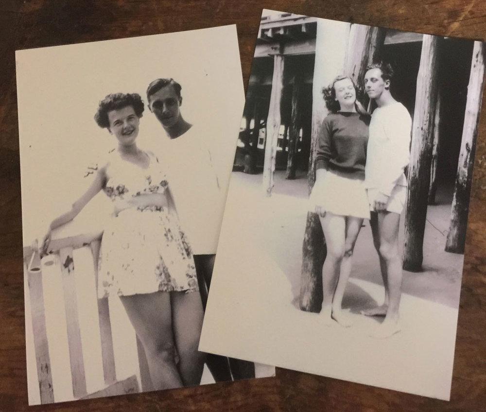 Grandma Dorothy and Grandpa Henry at Spring Lake, NJ