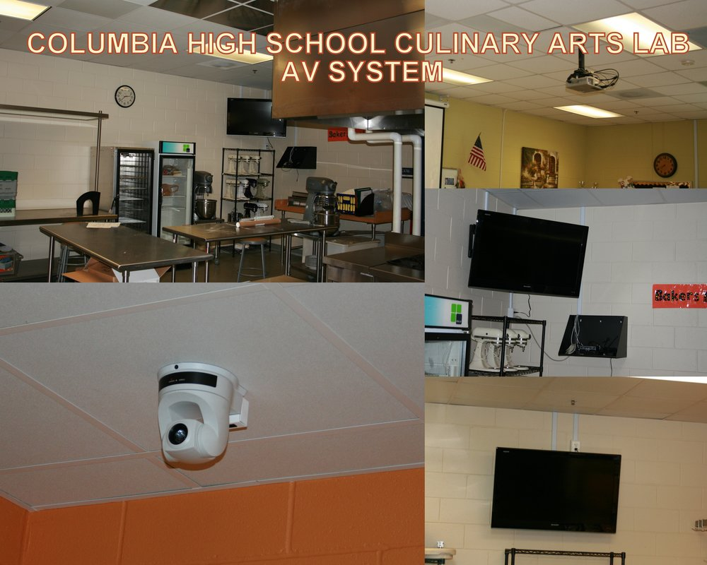 Columbia High Culinary Arts Lab AV System.JPG