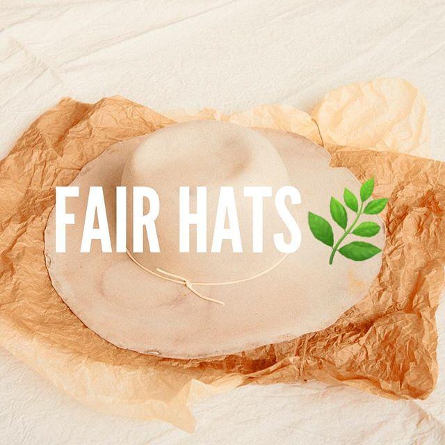 WE DO FAIRS HATS #handmade #madeinfrance #local #fairfashion #hat #slowfashion