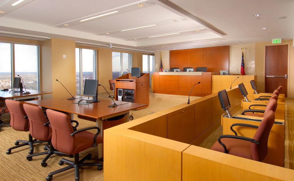 2007 AGC Award Winner - Sutherland, Asbill & Brennan-Elbert Parr Tuttle Courtroom