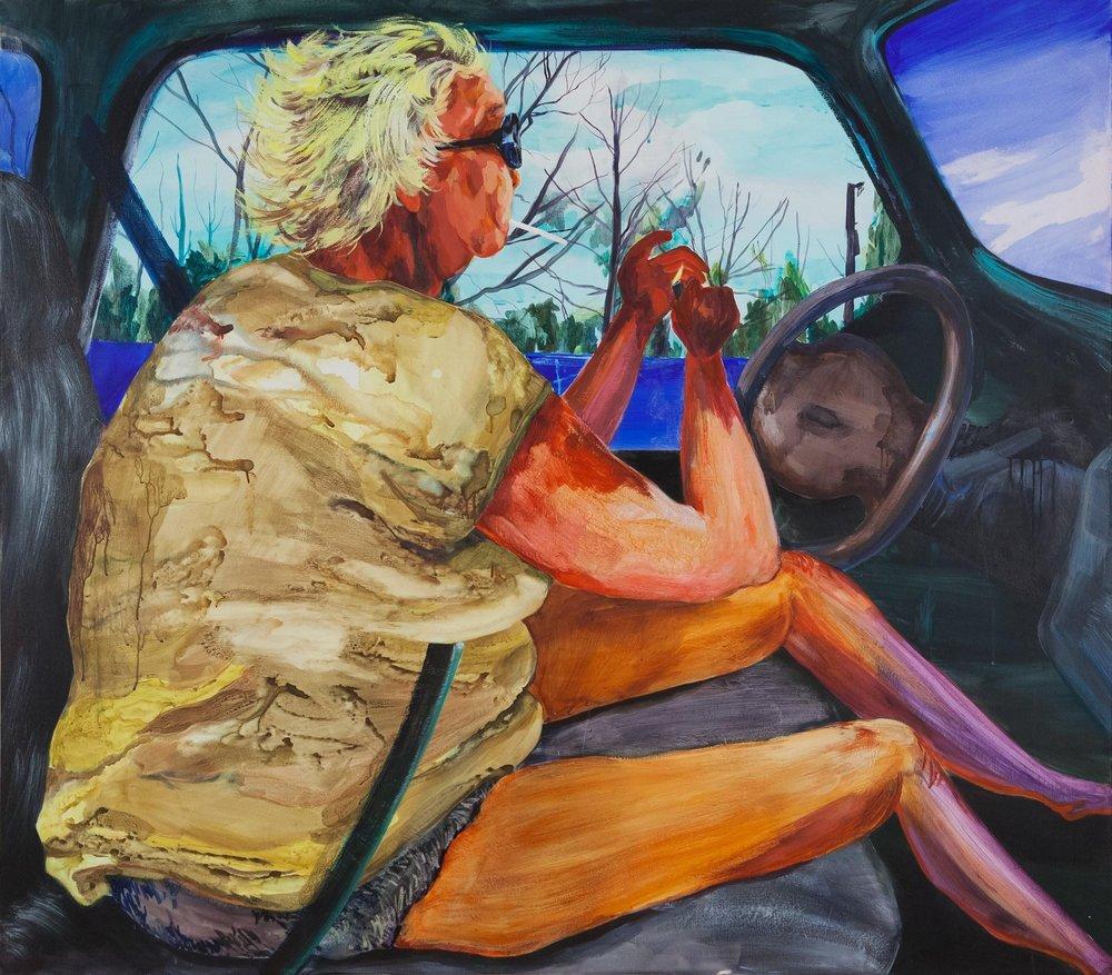 """The long Haul, 2017, Acrylic on canvas, 57"""" x 65"""""""