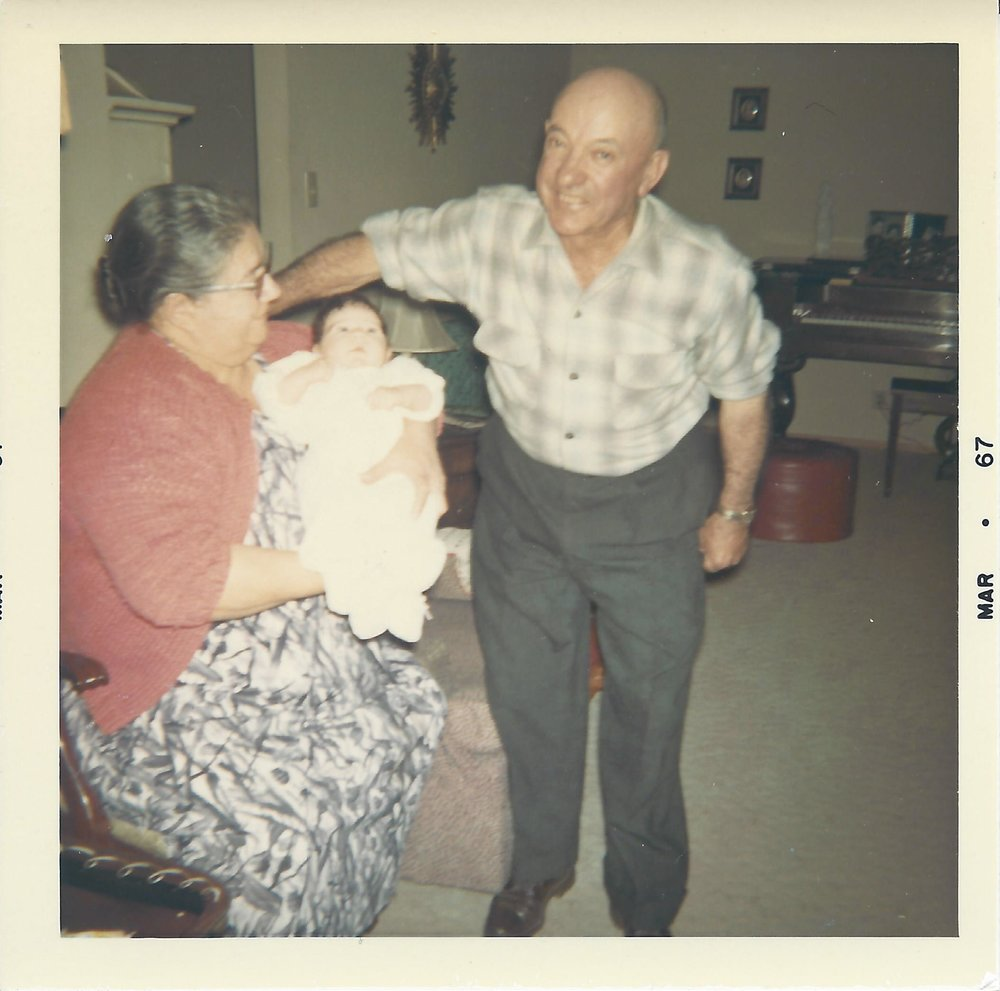 Here I am as an infant with my Grandma Bessie and my Nonno Jack.