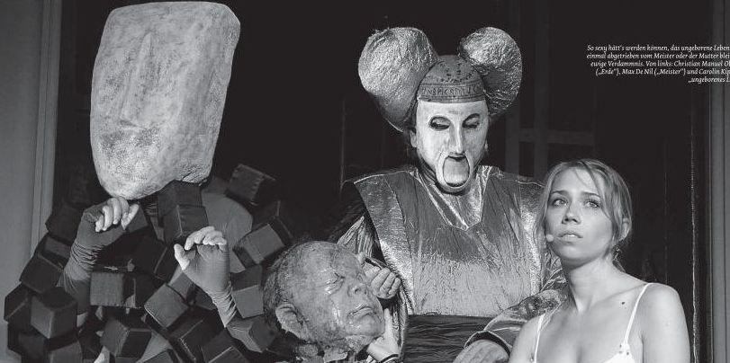 >> das große welttheater << - mainfranken theater würzburgrolle: totgeburt l regie: b. stengele l foto: (c) nummer. l premiere: juli 2009 l