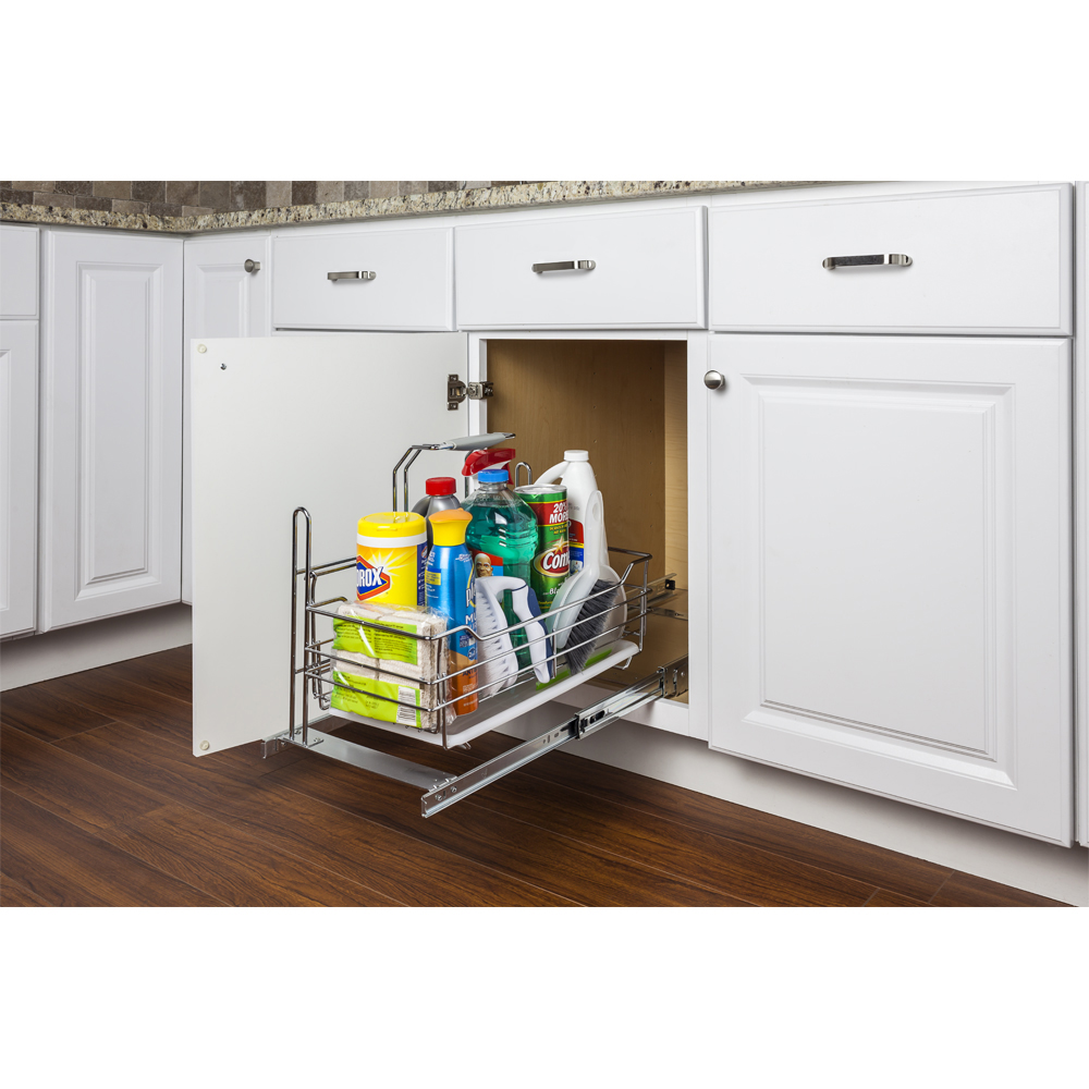 Cleaning Supply Caddy Pullout with Handle — CW Kitchen and Bath