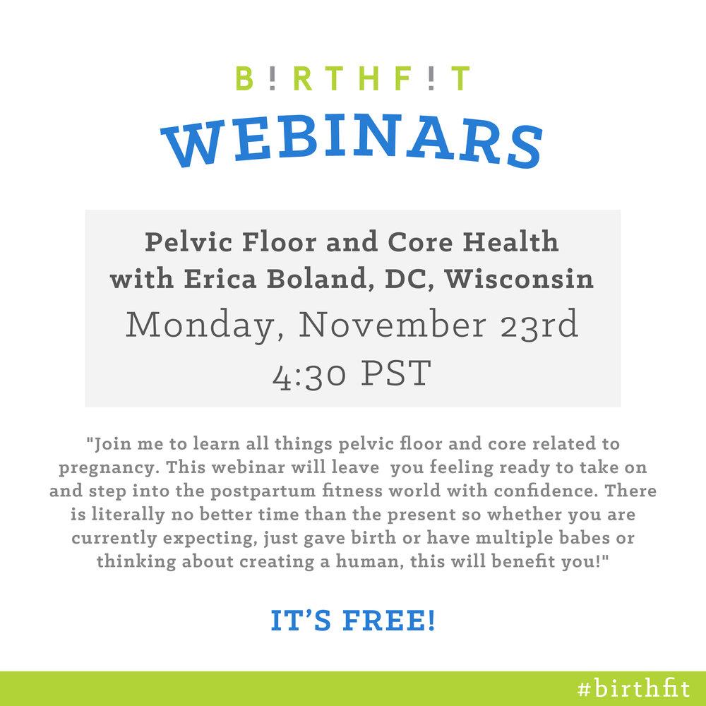 BIRTHFIT Webinar - Erica Nov 23