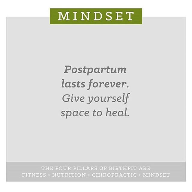 Postpartum is forever. Give yourself space to heal. 💚 #birthfit #fitness #nutrition #chiropractic #mindset #movementislife #postpartum #postpartumfitness #postpartumrecovery #healing #core #womenshealth